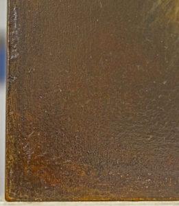 30. Detail - retouche rabatschade linker onderhoek