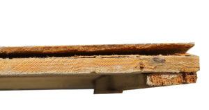 17. Detail - losgeraakte vezelplaat
