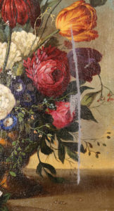 Schilderij - Grondretouches